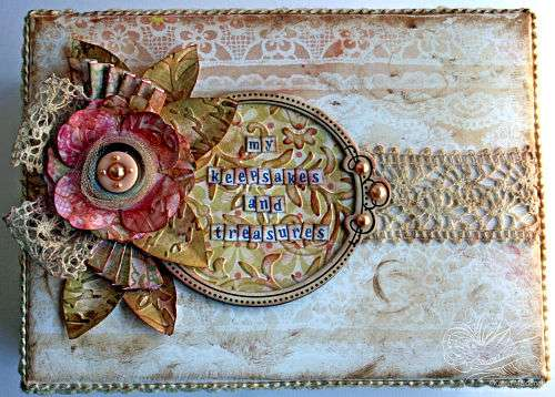 My Keepsakes and Treasures - Altered Box Top View