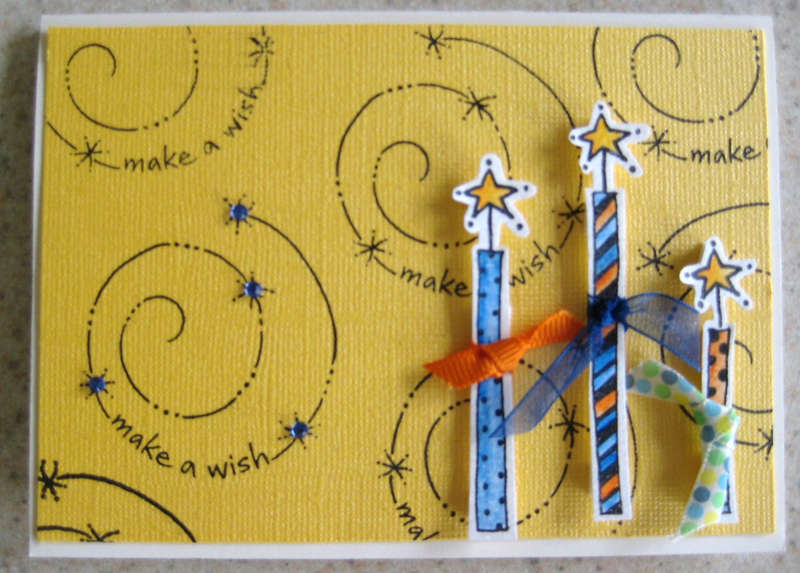 Make a wish candle card