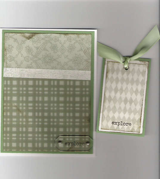 Masculine card and tag