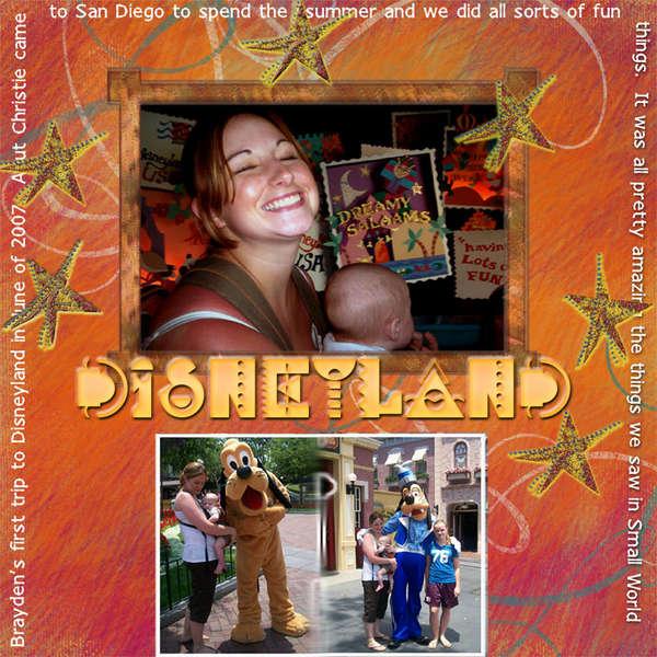 Brayden goes to Disneyland