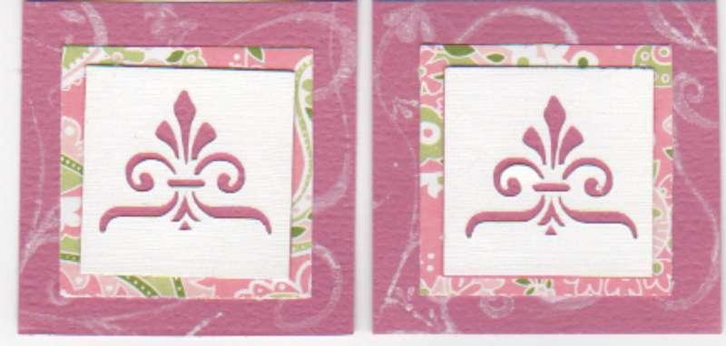 Flourish deco squares