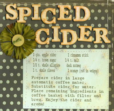 Recipie Swap {Spiced Cider}