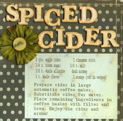 Recipie Swap {Spiced Cider}