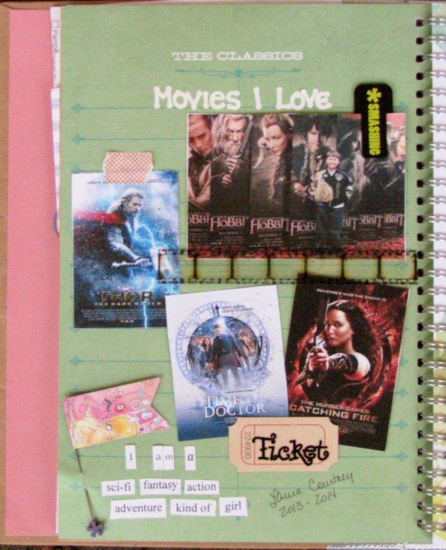 Smash Book page:  Movies I Love