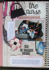 The Purse (smashbook page)