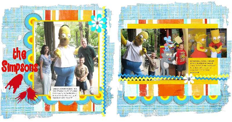 Simpsons 2 page layout