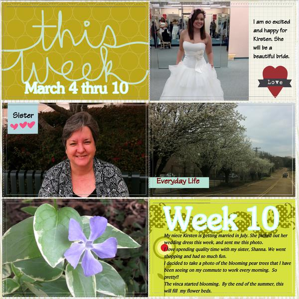 Project Life Week 10