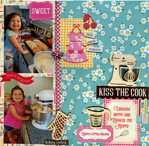 Kiss the Cook - June Scraplift Challenge