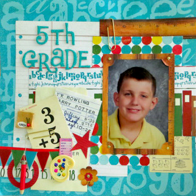 5th Grade featuring Quick Quotes Pattern paper line