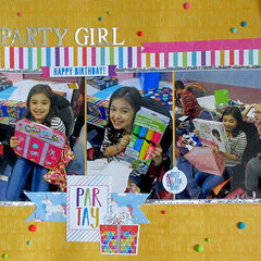 Party Girl - NSD boy/girl layout challenge