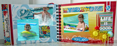 Beach Mini Album using Quick Quotes