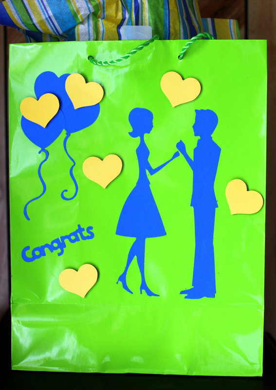 Wedding gift bag, side 2