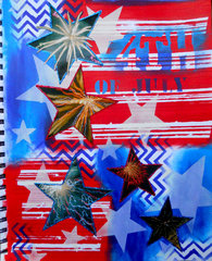 4th of July Art Journal ~ FotoBella DT