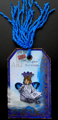 Art Gave Her Wings Tag ~ Red Rubber Designs DT