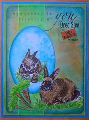 Blue Somebunny's Thinking ~ Red Rubber Designs DT