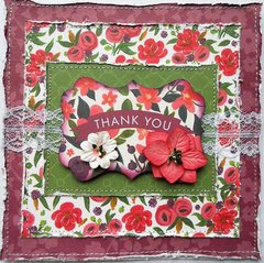 Carta Bella Thank You Card ~ FotoBella DT