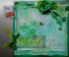 Celtic Thank You Card ~ Red Rubber Designs DT