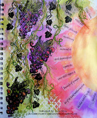 Grapes Art Journal