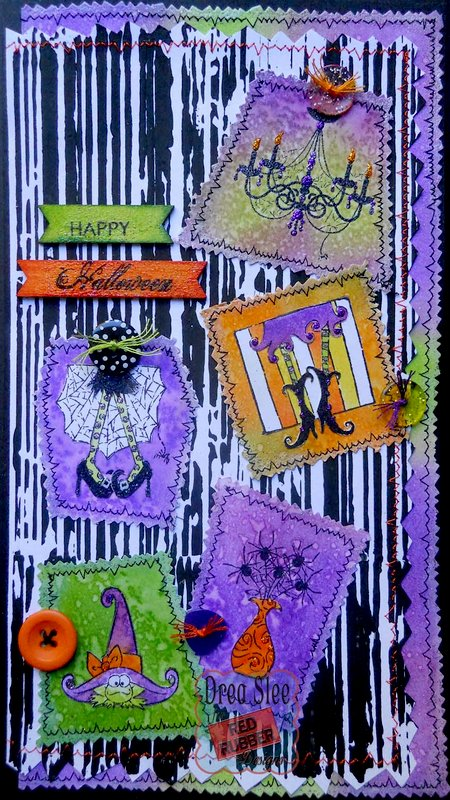Happy Halloween Card ~ Red Rubber Designs DT