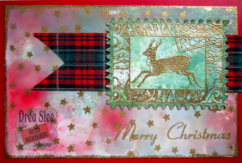 Holiday Collage Card ~ Red Rubber Designs DT