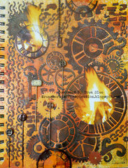 Fire Art Journal Page