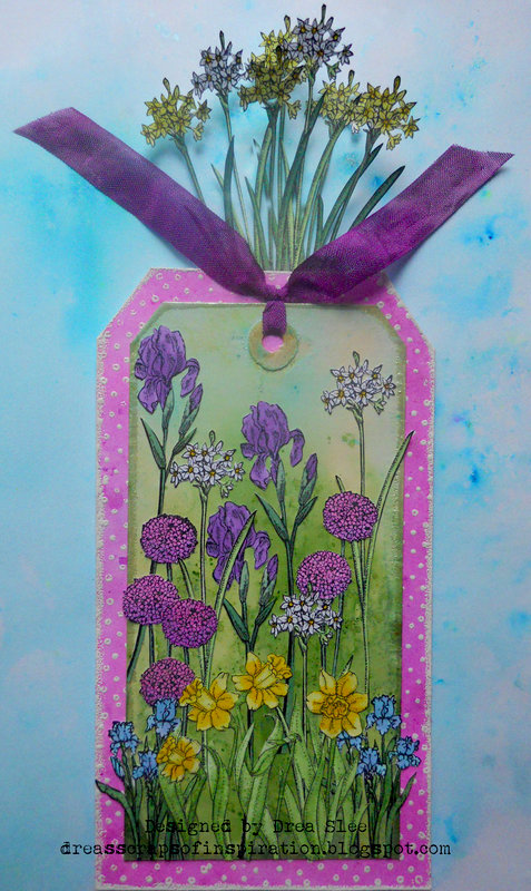 Spring Flowers Tag