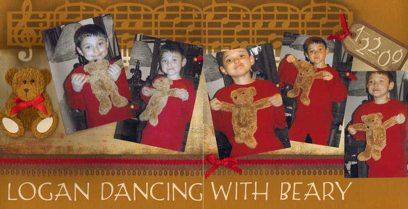 Logan dancing with Beary