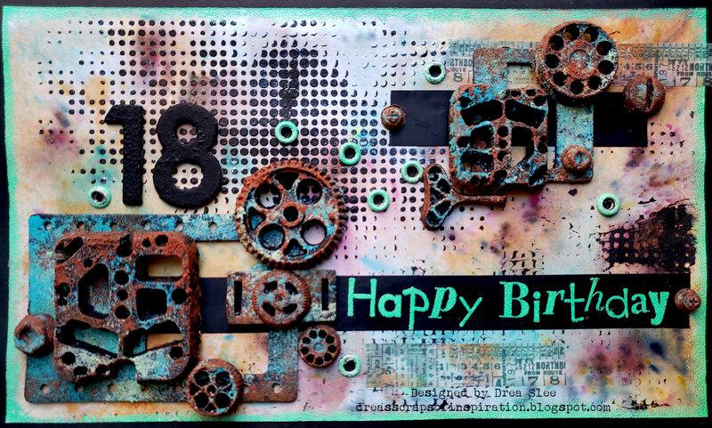 Grungy 18th Birthday Card