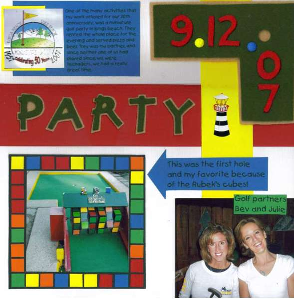 Miniature Golf Party (Right)