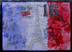 Paris Collage Card ~ Red Rubber DesignsDT