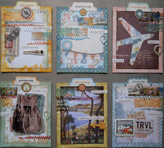 Simple Vintage Traveler ATC's ~ FotoBella DT