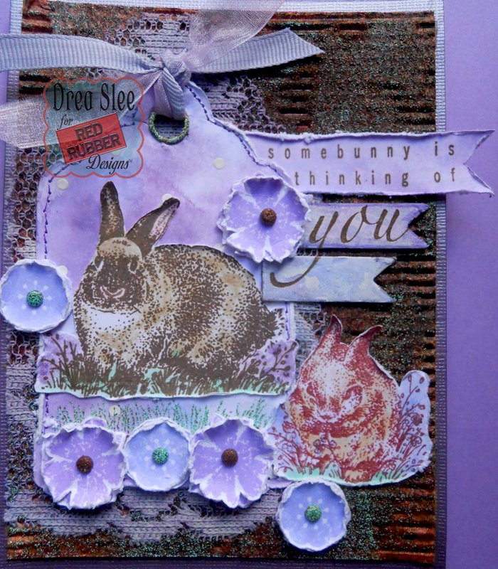 Somebunny's Thinking Card ~ Red Rubber Designs DT
