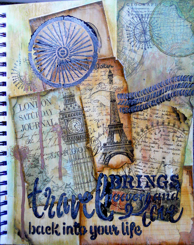 Travel Art Journal ~ FotoBella DT
