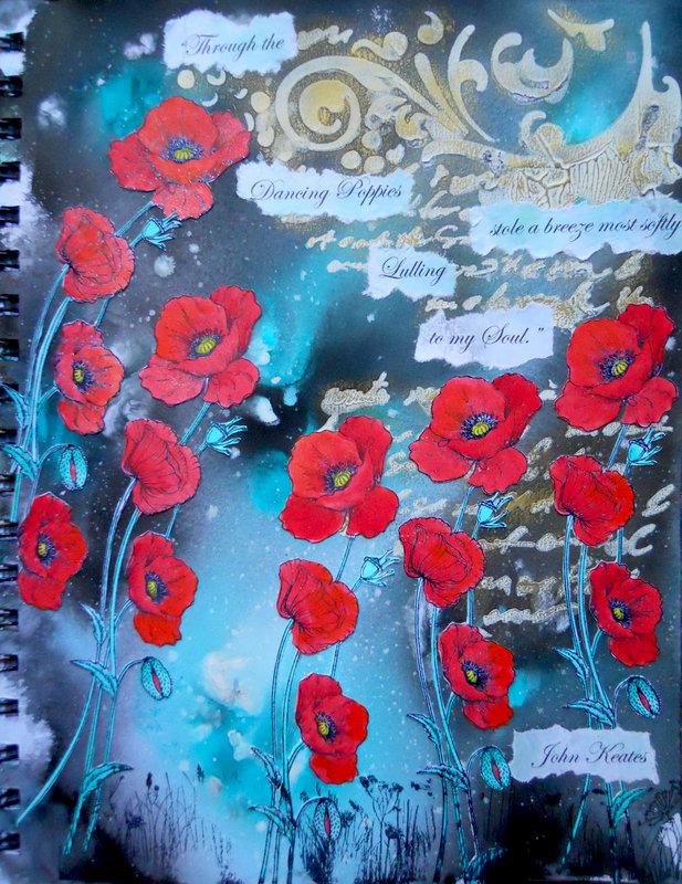 Stamperia Poppies ~ FotoBella DT