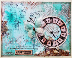 Teal and Copper Birthday Card