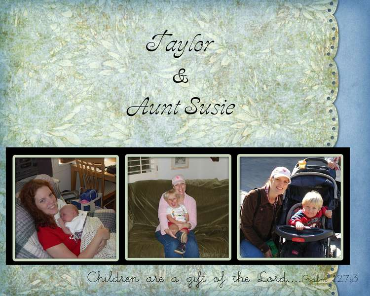 Taylor & Aunt Susie collage