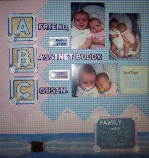 AJs Scrapbook Page 15--Cousins