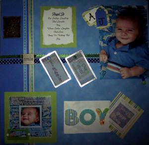 AJs Scrapbook page 16--Little Masterpiece