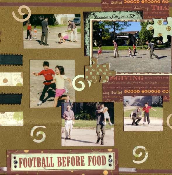 Football Before Food - SHCG Embellishment Challenge