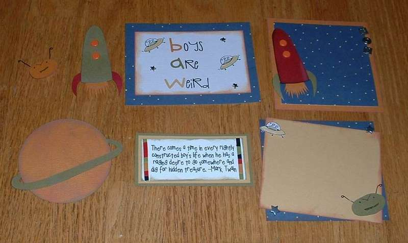 Outer space themed Boy Page Kit