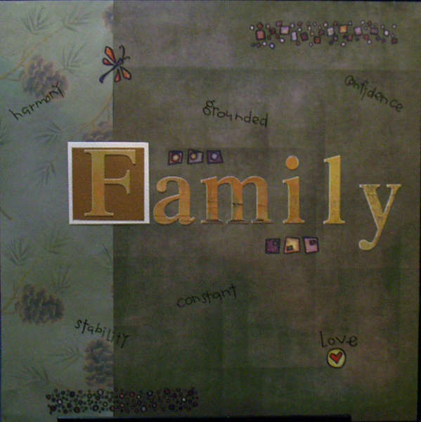Family Scrapbook Title Page