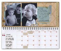 January Pages  -  Making Memories Calendar