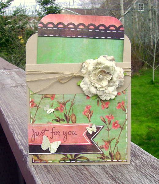 just for you - pocket card-