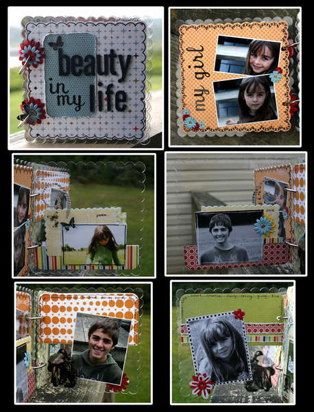 the beauty in my life~hybrid acrylic album 1st set of pgs