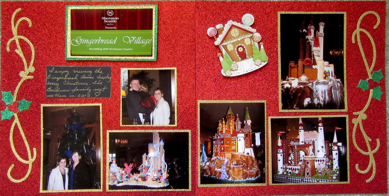 Gingerbread Village 2012 two-page layout