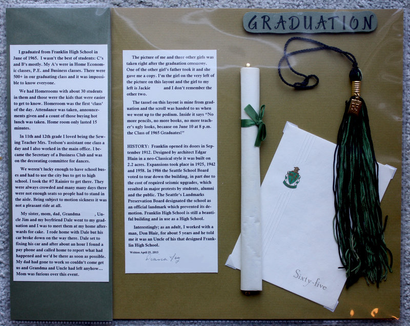 Journaling for Graduation Layout