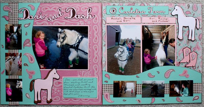 Dori and Dash @ Carleton Farm Two page Layout