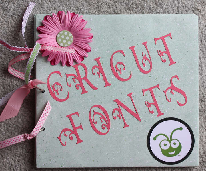 Cricut Fonts Book