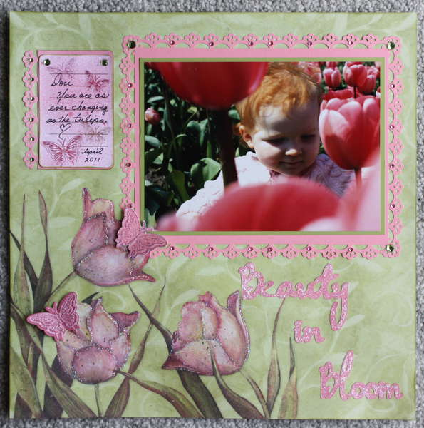 "'Beauty In Bloom"" layout"