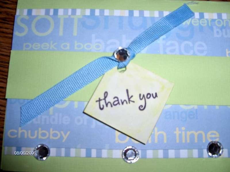 Thank you Baby Boy Card